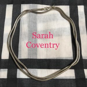 Vintage Sarah COV Snake Chain Necklace